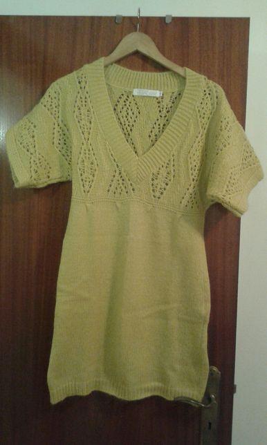 Vestido de lã amarelo
