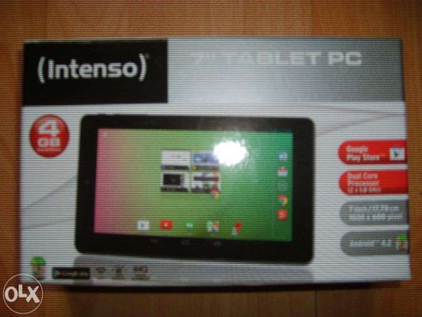 Tablet INTENSO 2x1GHz/RAM 1GB/ pamięć 4GB 1024X600 pikseli sys.android