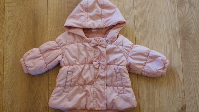 jak nowa kurtka jesienna ocieplana dla dziewczynki 68 74