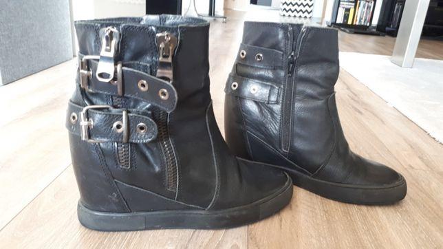 Buty skórzane damskie nr 39