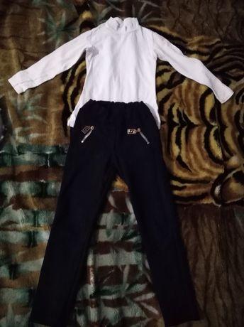 Школьная форма синего цвета, брюки, кофта, юбка, блузка