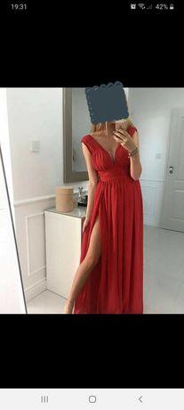 Sukienka długa, czerwona sugarfree