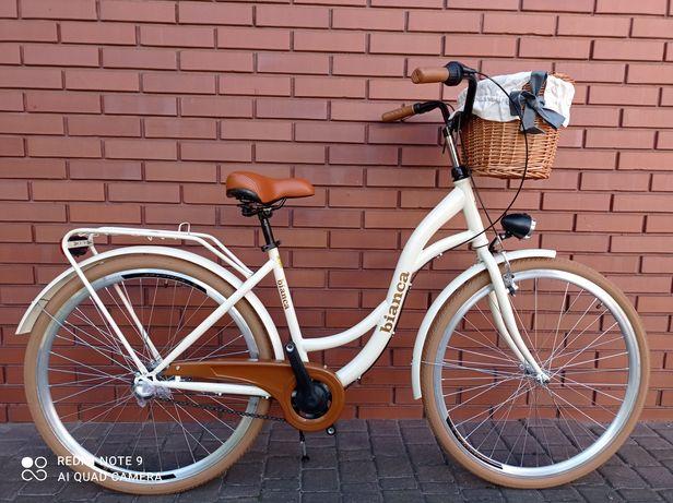 NOWE Rowery 3 BIEGI BIANCA Shimano Nexus 28 +kosz+wyściółka GRATIS