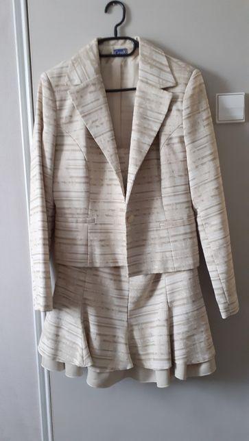 Kostium r 40 Gerber, niegniotący się żakiet + spódnica