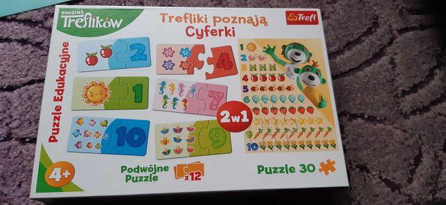 puzzle treflik cyferki
