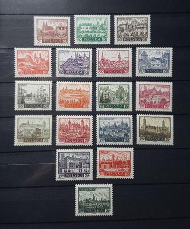 Znaczki polskie Historyczne miasta polskie
