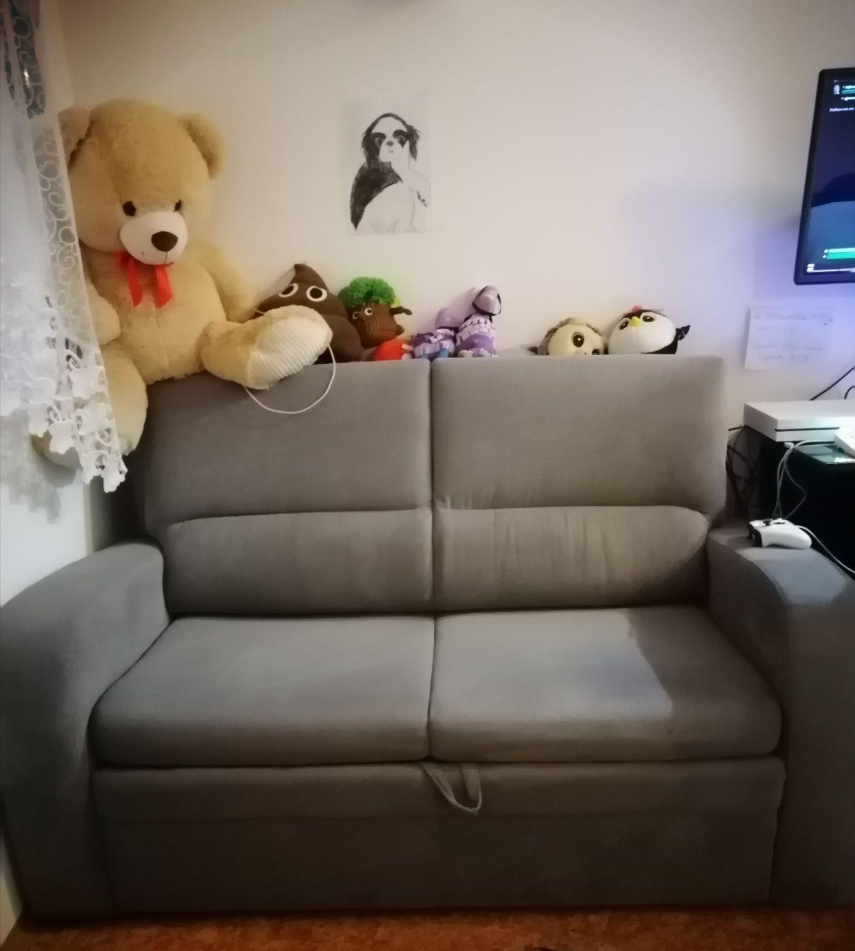 Fotel rozkładany 2 osobowy