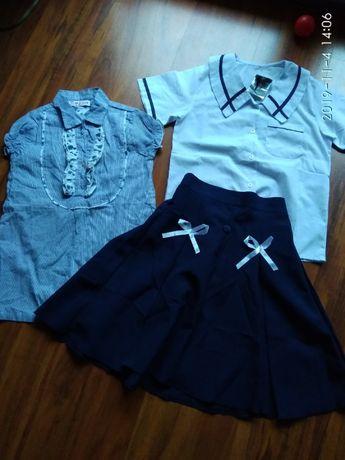 Nowa Spódnica+bluzka+gratis r.134-140