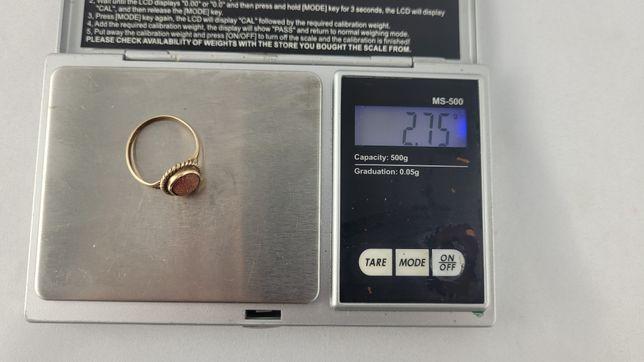 Złom złota pierścionek 585 kamień piasek pustyni