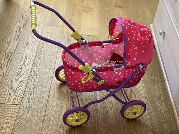 Складная коляска для пупса. Дeтская прогулочная коляска для кукл.