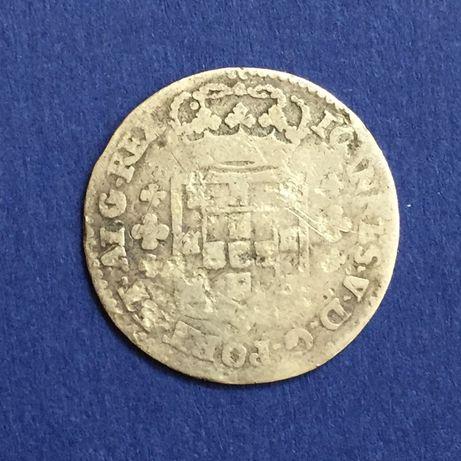 moeda 6 vinténs (120 réis) - D. João V - prata
