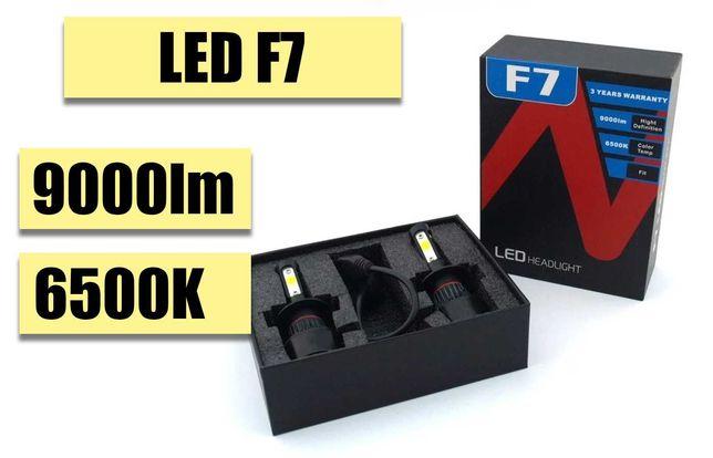 Автолампы LED F7. IP67, 12 V, 9000 LM, 6500 K. НОВИНКА!
