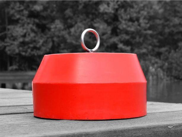 Kotwica do łodzi • Ciężarek betonowy powlekany PE / Masa 15 kg.