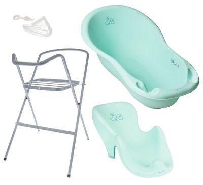 Набор Детская ванночка Tega с горкой и подставкой