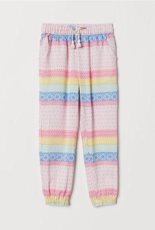 H&M 92 jak nowe cienkie spodnie na lato