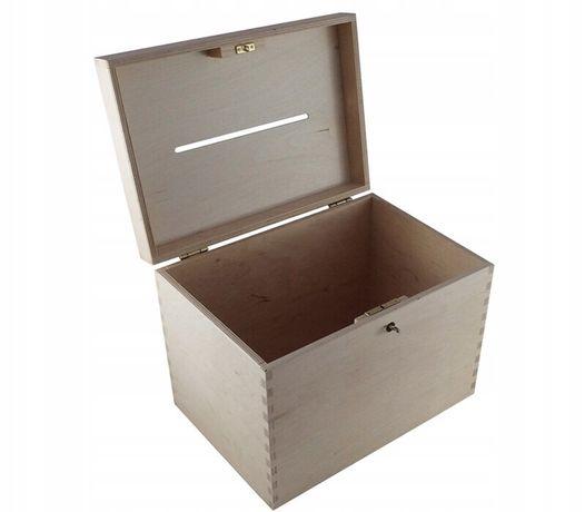 Pudełko na koperty, listy, skarby. Decoupage. Napis DZIĘKUJEMY gratis
