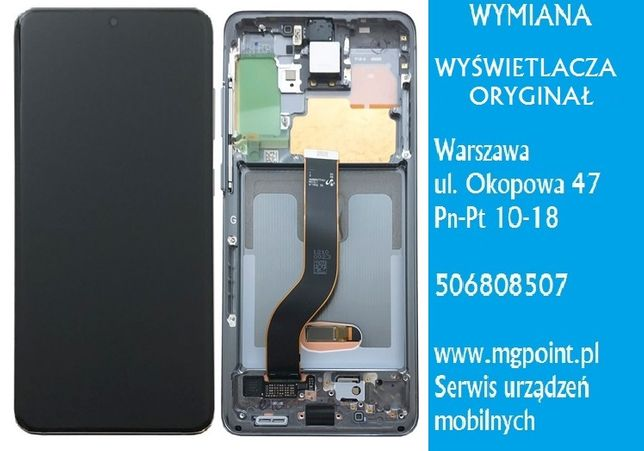 Wyświetlacz lcd ekran Amoled ramka Samsung Galaxy S20+ G986 wymiana