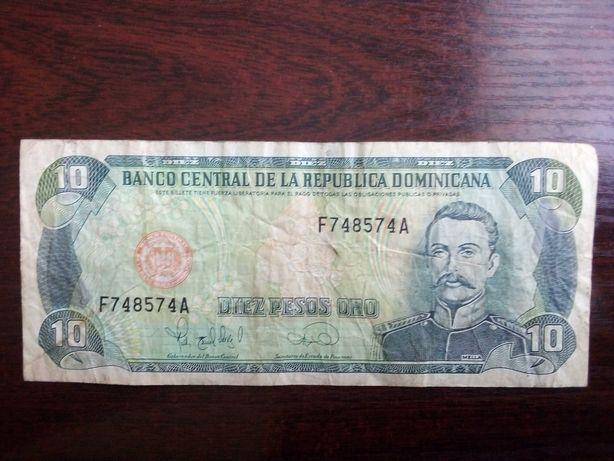 Banknot 10 pesos Dominikana