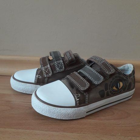 buty dla dziecka, dinozaury, nowe, zapinane na rzepy, rozmiar 29