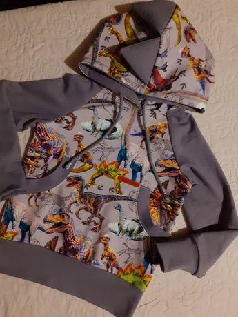 Bluza dinozaury handmade