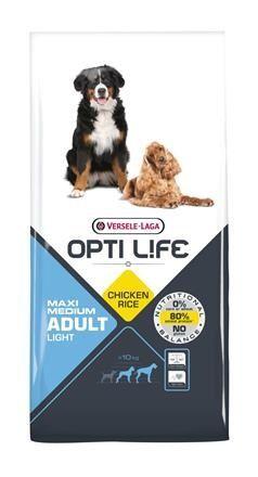 Opti Life - Adult Light Medium & Maxi 12,5 kg - dla psów z nadwagą