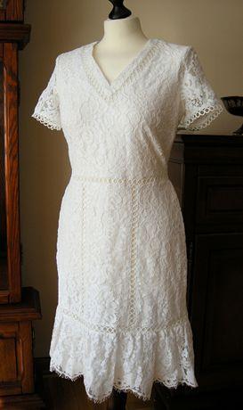 KARL LAGERFELD PARIS sukienka koronkowa r S