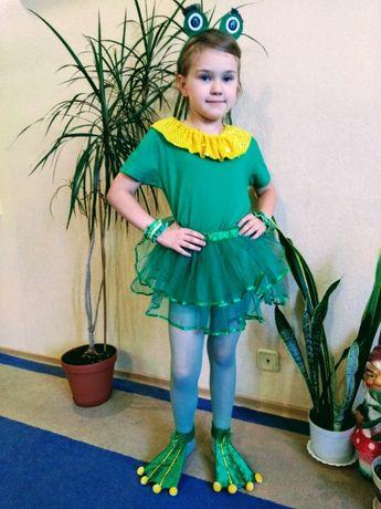 Карнавальный новогодний костюм лягушки, стрекозы, синички.