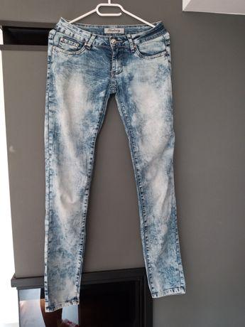 Spodnie jeansowe marmurki S 36