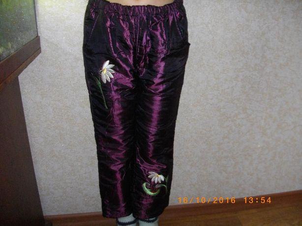 теплые штаны на девочку 70 гр