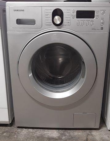 Máquina de lavar roupa cinza Samsung 8kg