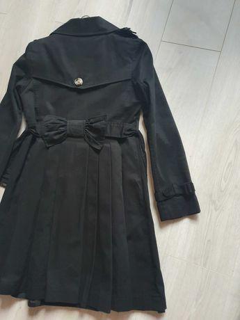 Asos zara h&m płaszcz trencz plisowany czarny 36