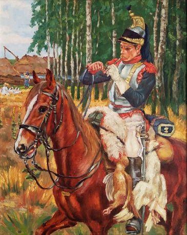 Ręcznie Malowany - Obraz Olejny ( Wojciech Kossak )