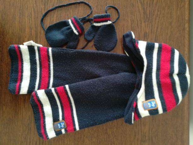 Zestaw: czapka, szalik, rękawiczki