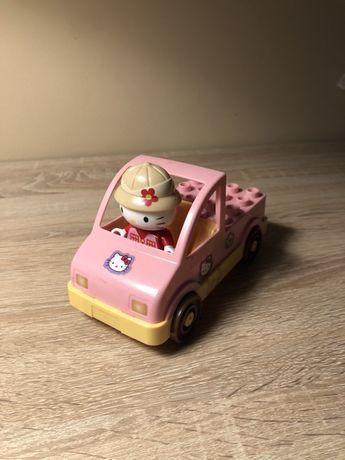Samochodzik plus figurka hello kitty