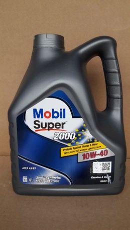 Масло моторное полусинтетическое Mobil Мобил Super 2000 10w-40 (4л).