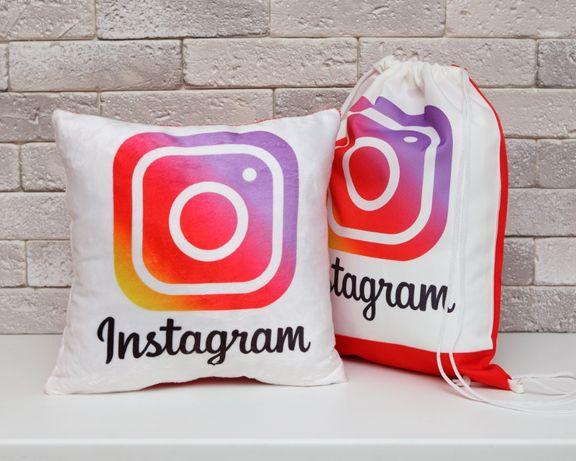 Подарочный набор Инстаграм Instagram подушка чашка кофта рюкзак худи