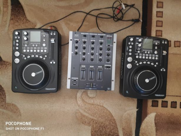 DJ Konsola Citronic MPCD-S6 odtwarzacz CD/MP3 player i mikser PS-626X