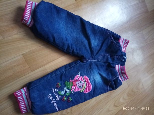 джинсы зимние детские