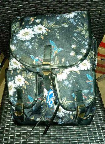 Рюкзак чорний унісекс ромашки