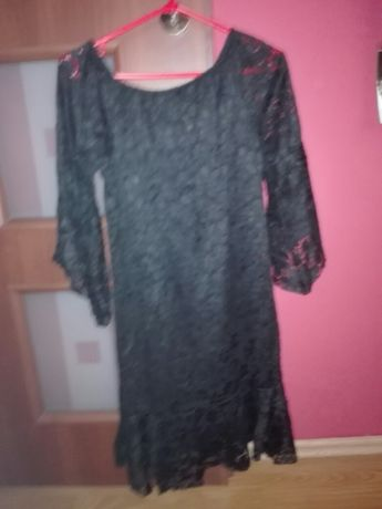 Sukienka czarna z koronki M-ka