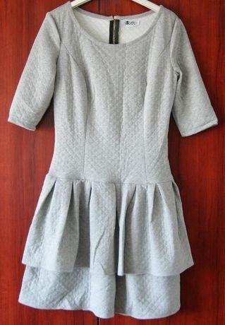 Sukienka szara NOWA rozm.38 VOBO
