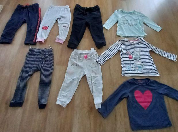 Spodnie dresowe, bluzki długi rękaw r.98