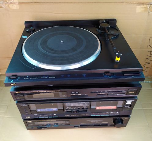 Zestaw stereo JVC ax-22bk, al-a10,td-w20x, fx-33l, sp-x3 kolumny