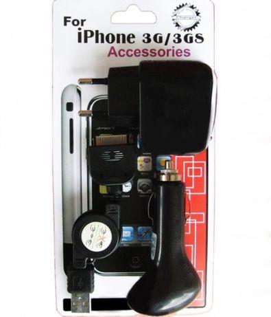 Carregador universal para iPod iPhone Kit preto composto 3 peças