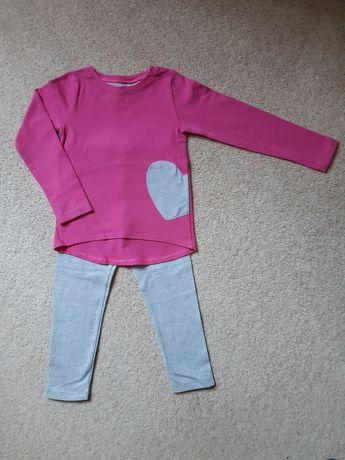 Zestaw bluzeczka plus legginsy 104-110cm