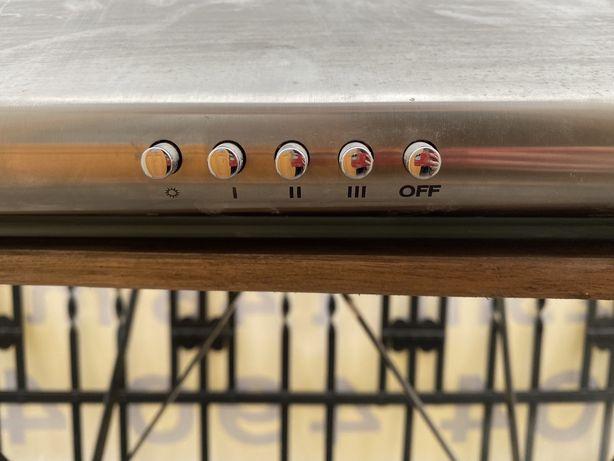 Okap Amica sprawny wyciąg kuchenny srebrny nowoczesny