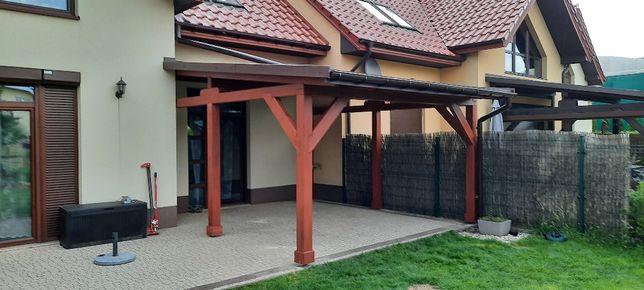 Taras drewniany ,zadaszenie