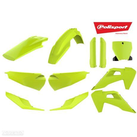 kit plasticos polisport amarelo fluor husqvarna fc 250 / 350 / 450
