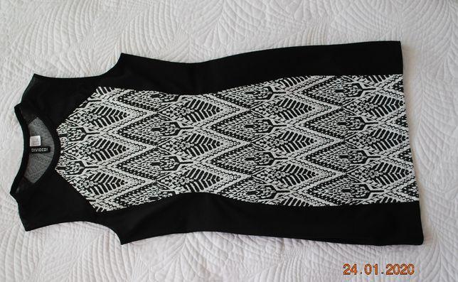 biało czarna sukienka H&M r.38 40