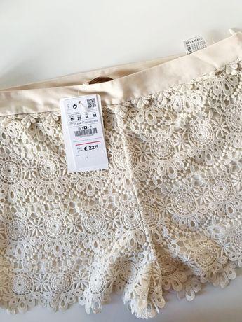 calções de crochet NOVOS